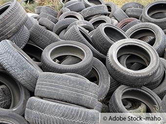 ZARE   Zertifizierte Altreifenentsorger   150 alte Reifen in der Natur entsorgt