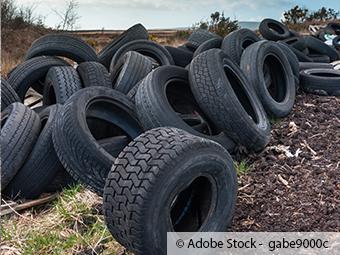 ZARE | Zertifizierte Altreifenentsorger | Ablagerung von Reifen in Wissen