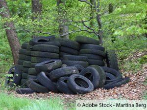 Altreifenentsorgung in Wald- und Naturschutzgebiet häufen sich