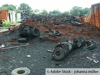 Bei Landwirt illegale Müllablagerung gefunden