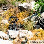Fund von illegalen Altreifen in Alzenau
