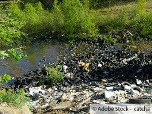 Illegale Müll und Altreifenentsorgung ist ein permanentes Problem