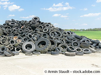 Illegale Müllhalde in Weilmünster mit rund 300 Altreifen